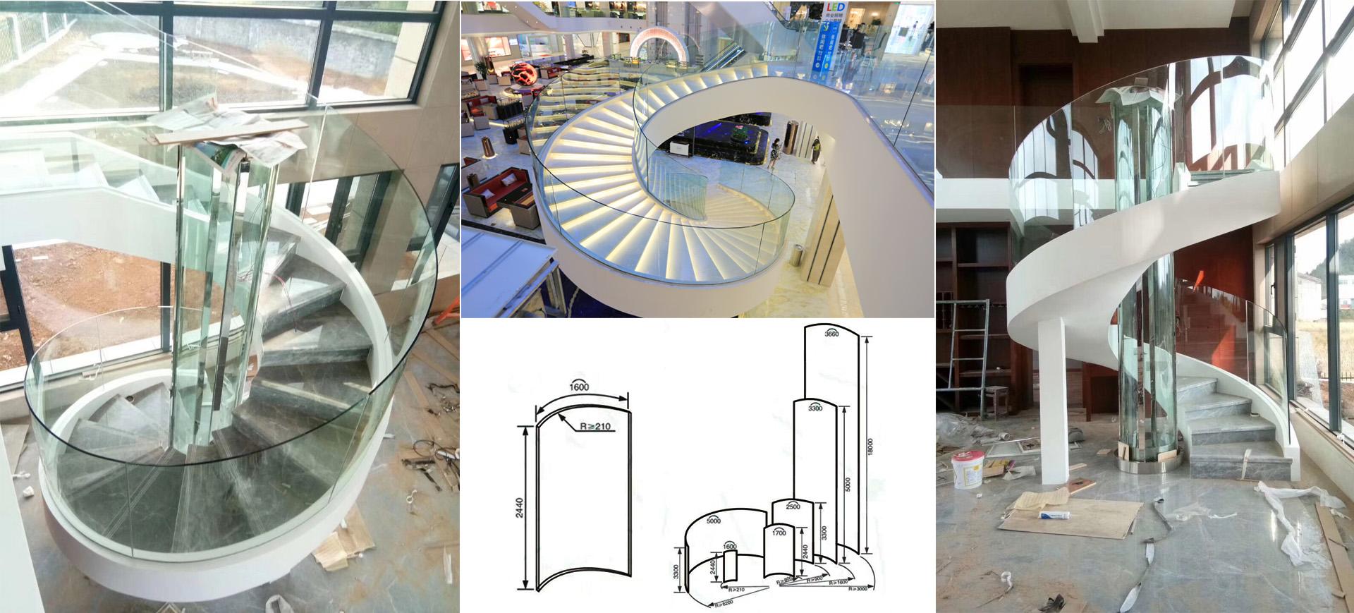 BTG better glass 15mm curved glass balustrade