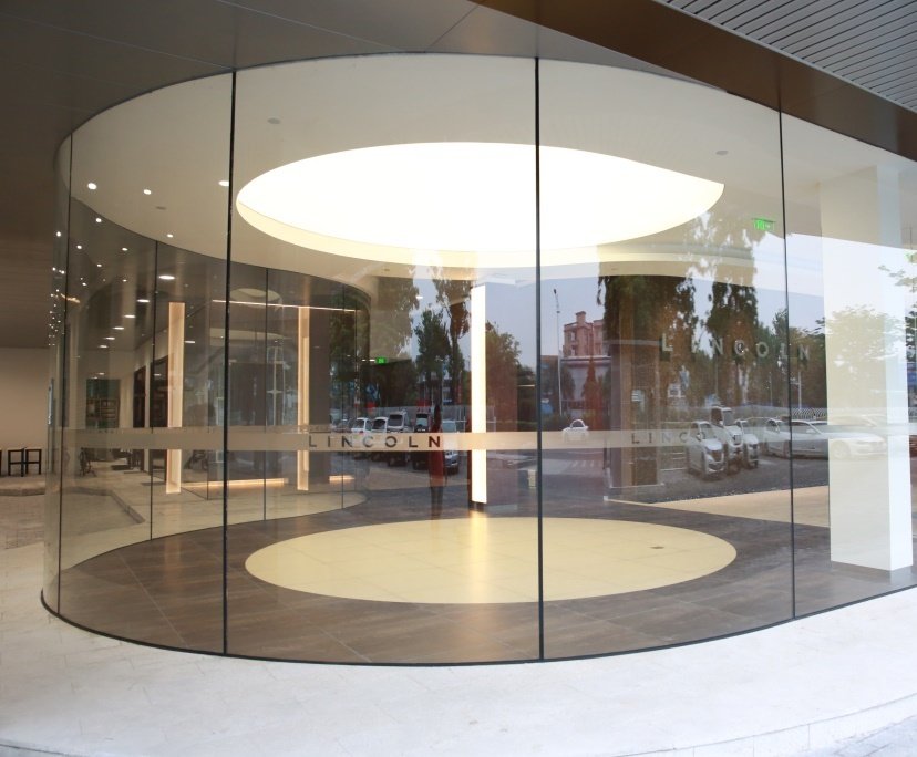 BTG 10mm clear tempered shop front glass