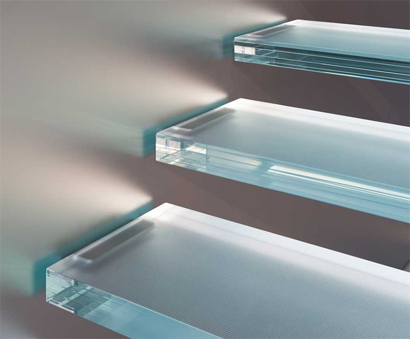 Transparent Laminated Glass Stairs Steps