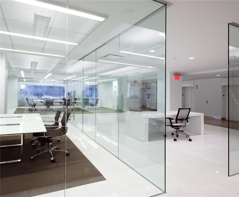 10 mm 12mm clear tempered glass partition walls