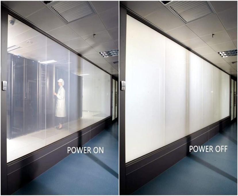 10.76mm PDLC smart switchable glass