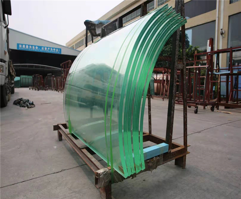 10mm clear curved tempered glass