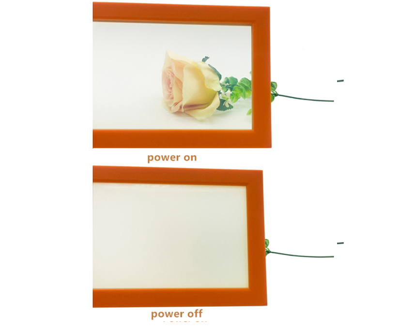 Supplier 13.14mm tempered PDLC smart switchable glass