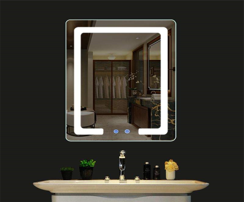 BTG better glass Far-infrared heating touch switch LED mirror glass china suppliers