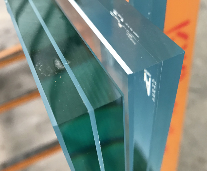 8mm clear monolithic+1.52+8mm low e monolithic tempered laminated glass