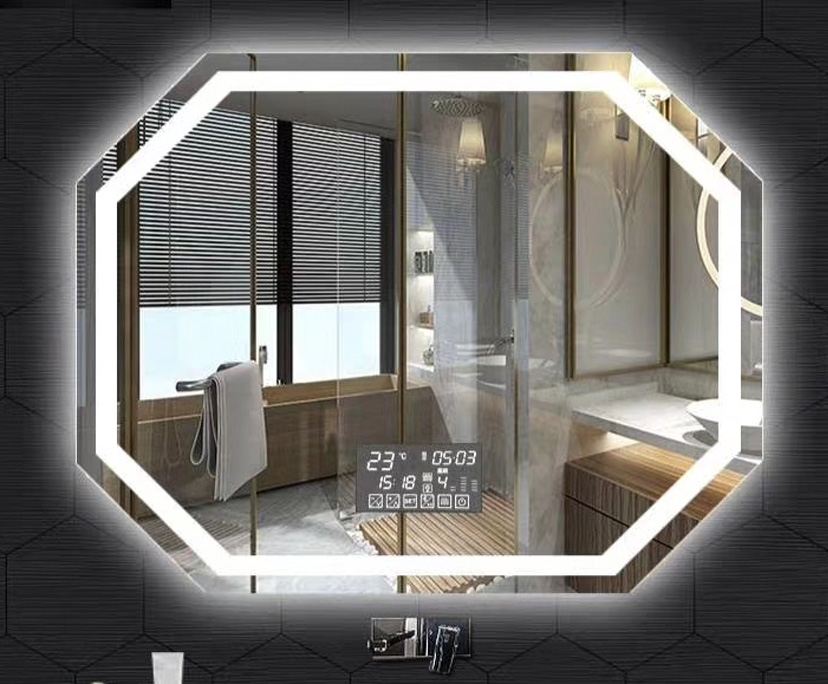 BTG Better Glass bathroom touched screen LED magic mirror glass