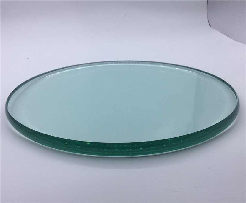 China manufacturer modern design 10mm 12mm clear tempered table top glass price