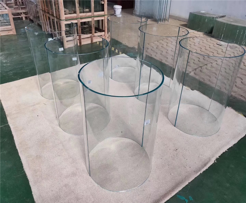Top sales 8mm 10mm super clear hot bending glass interior decoration price