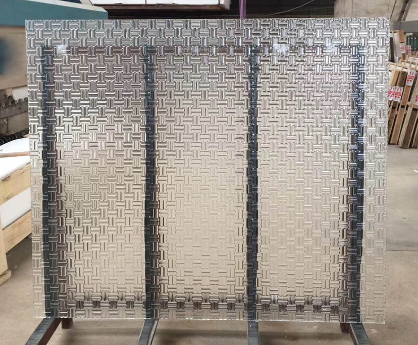 Factory supplier 5mm 6mm 8mm tempered patterned glass