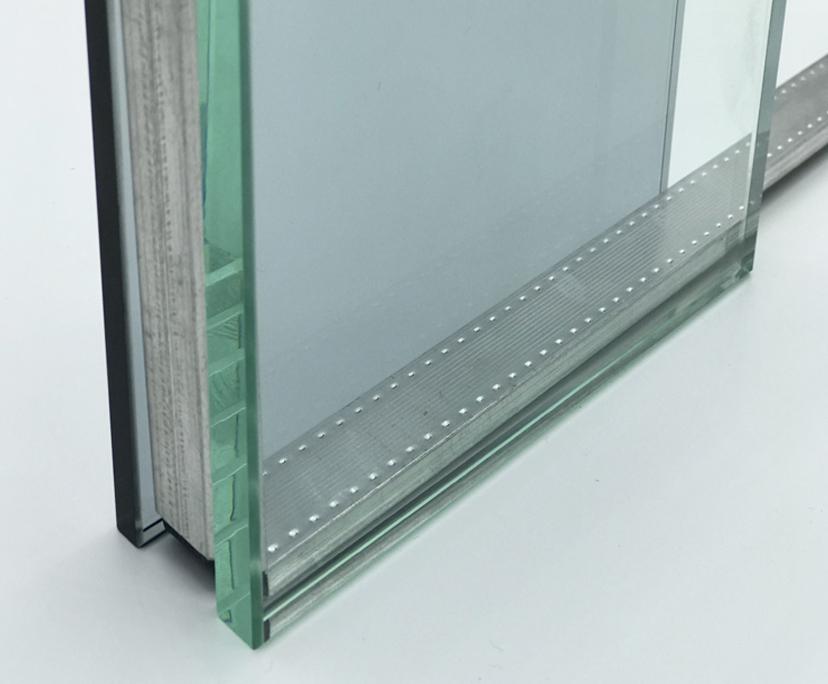BTG supplier 4mm+9A+4mm transparent toughened window glass