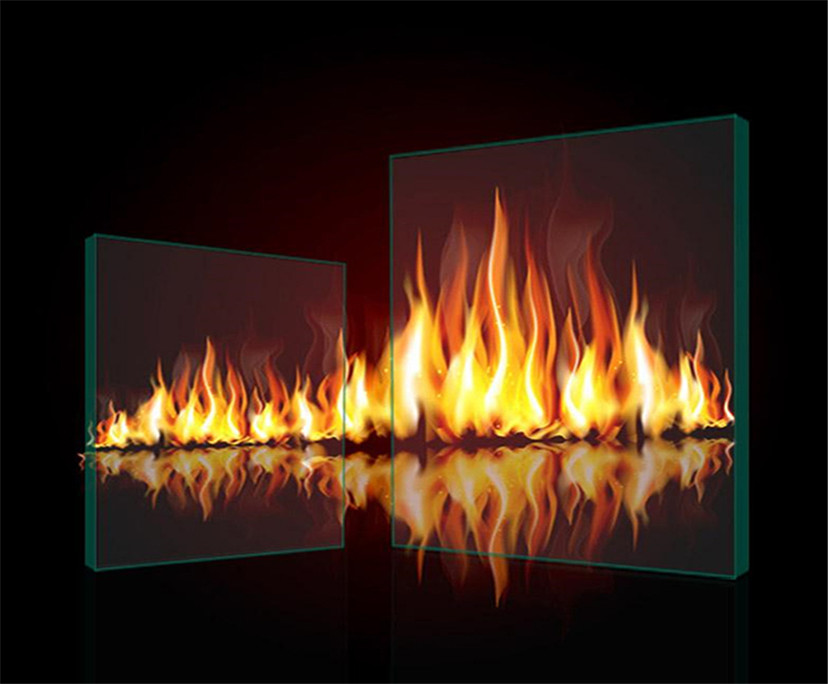 China manufacturer clear 120min fire Proof Glass for windows