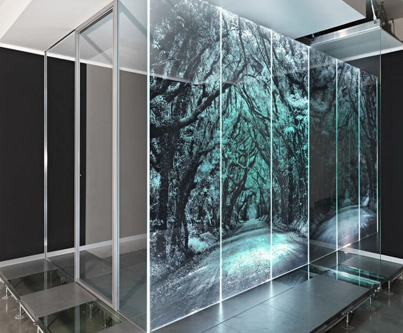 BTG transparent LED glass