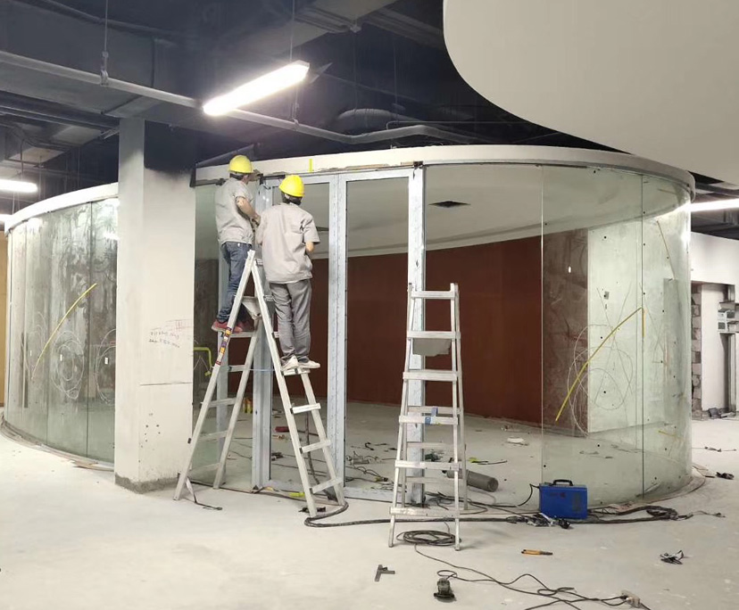 BTG transparent toughened partition glass