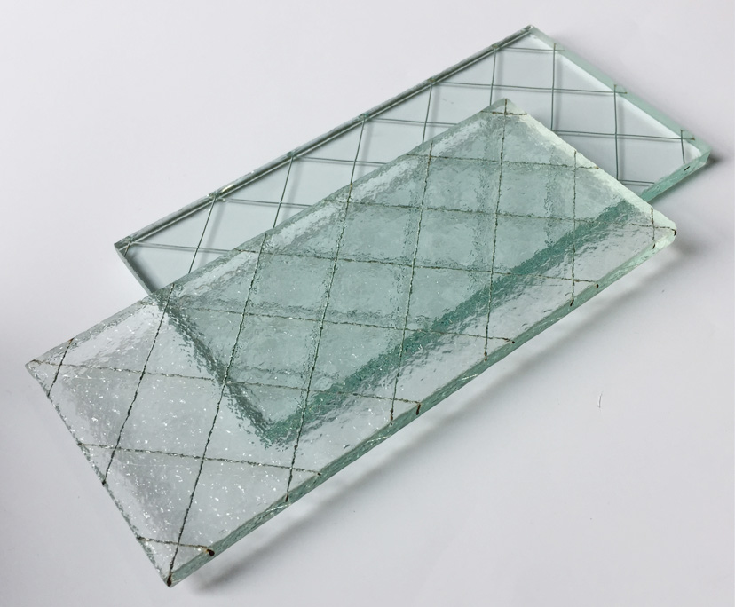 BTG factory clear toughened wired glass