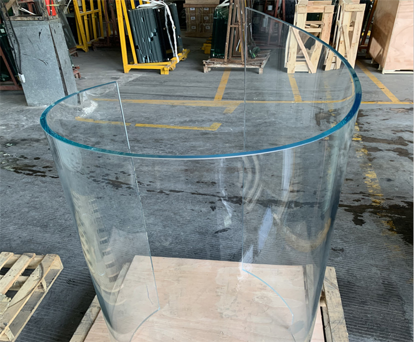 High quality 10mm clear hot bending glass interior decoration china manufacturer