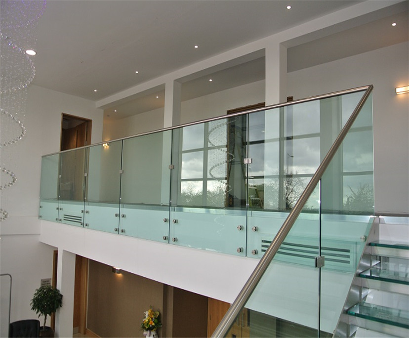 High quality 12mm clear tempered balustrade glass interior design price per sqm