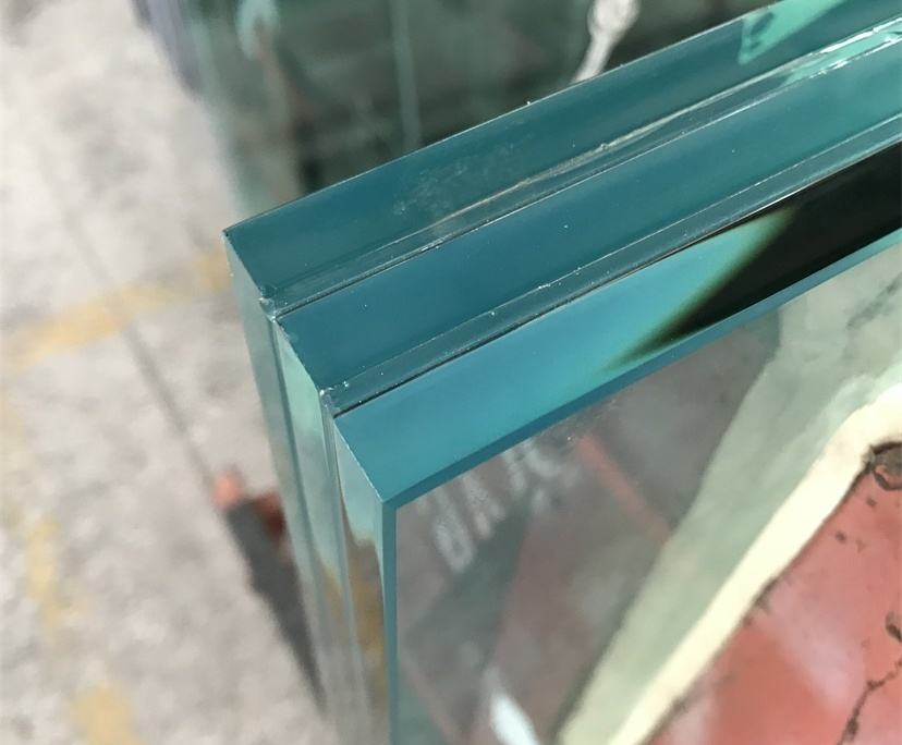 BTG 15mm+2.28PVB+15mm+2.28PVB+15mm clear tempered triple laminated glass