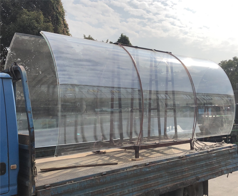 High quality 10mm transparent curved toughened partition glass china manufacturer​