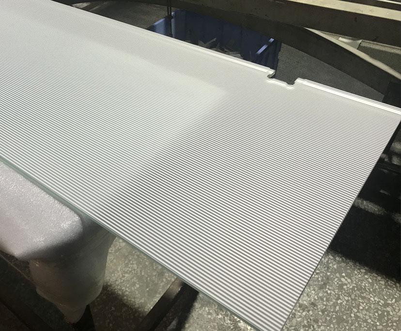BTG manufacturer BTG 6mm toughened serigraphy printing glass