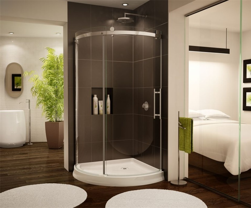 BTG 10mm 12mm transparent rounded shower cabins glass factory
