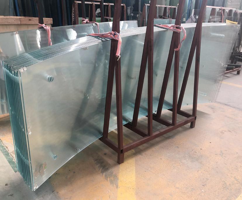 BTG supplier 8mm transparent tempered curved glass