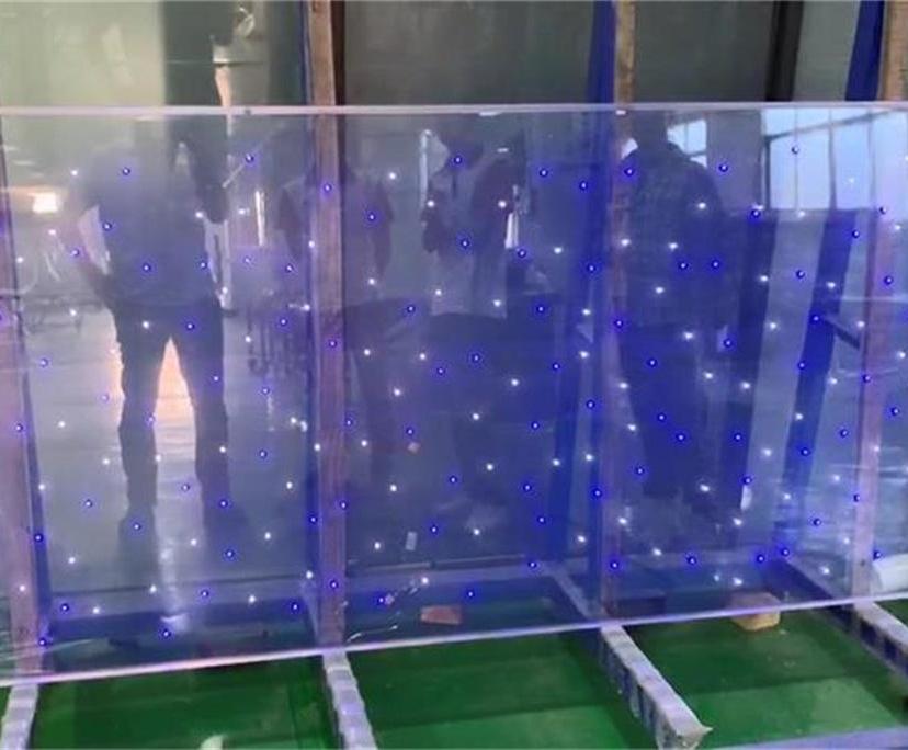 BTG 6mm+1.52PVB+6mm clear LED glass supplier