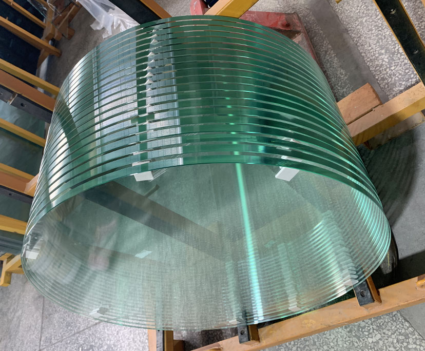 China supplier BTG 12mm clear tempered table tops glass