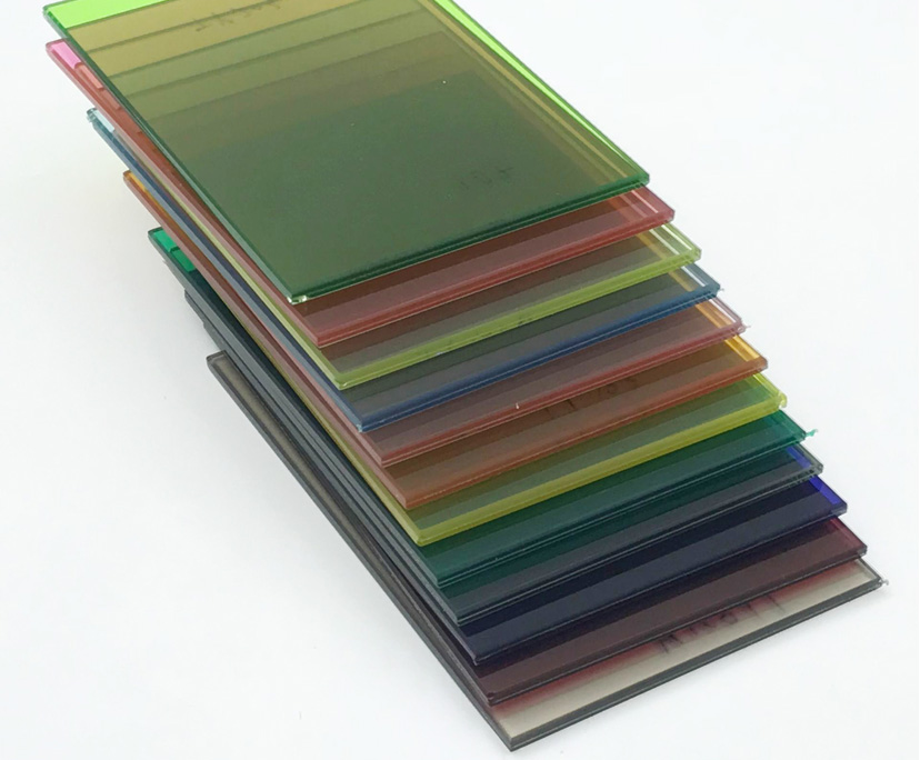 5mm+1.52+5mm extra clear or tinted toughened laminated glass