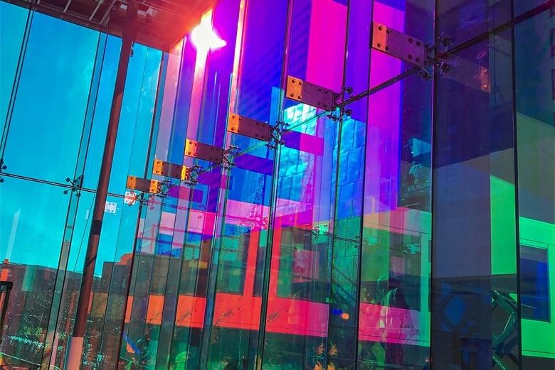 BTG iridescent dichroic glass