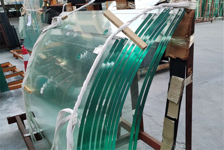 8mm+1.52pvb+8mm clear curved tempered laminated glass