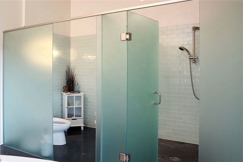 10 mm 12mm super clear frosted tempered shower glass