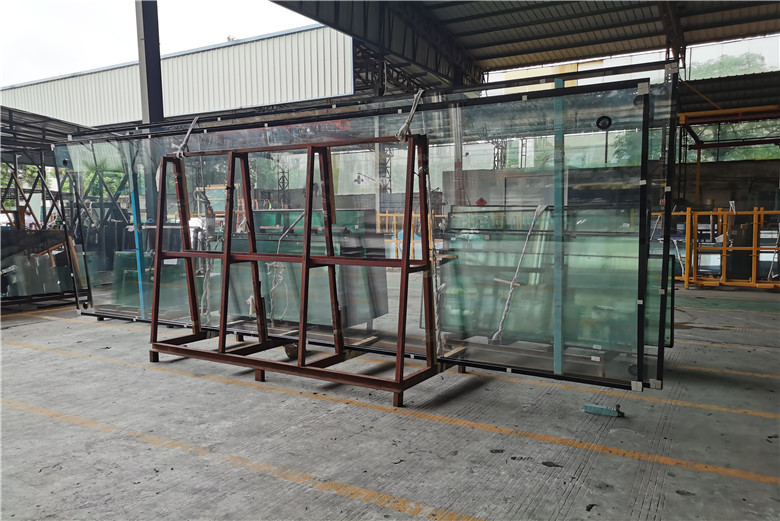 BTG glass 8+16A+8mm clear reflective tempered flat/curved insulated glass China manufacturer